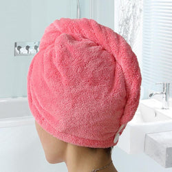 Bathroom - Hair Towel 1pc Magic Hair Drying Hat Cap Salon Towel
