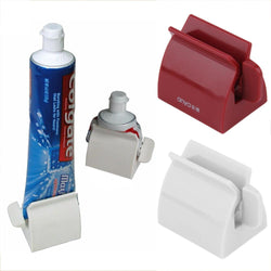 Bathroom - Rolling Tube Tooth Paste Squeezer Toothpaste Dispenser + Tooth Brush Toothbrush Holder