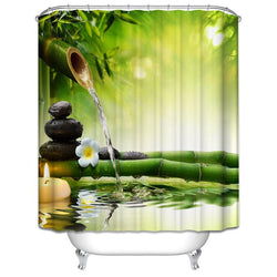 Bathroom - SPA Waterproof Shower Curtain In Fall Trees / Star Fish Sea Shell