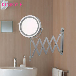 Bathroom - Space Saver 7 Inches High Definition Bathroom Mirror  LED  Makeup Mirror W/5X Magnification