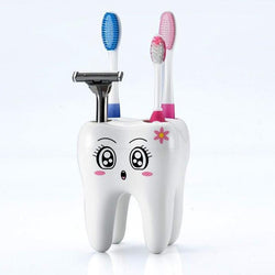 Bathroom - Toothbrush Holder 4 Hole Cartoon Stand Tooth Brush Shelf Bracket Container Bathroom Accessories Set