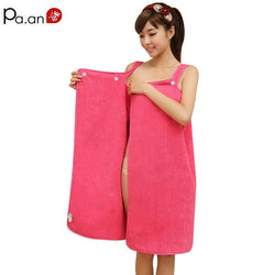Bathroom - Wearable Microfiber Soft Super Absorbent Bath Wrap Skirt Towels