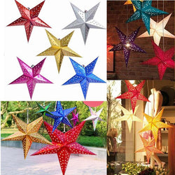 Bedroom - 12 Inch Shiny Star Paper Lampshade Lanterns