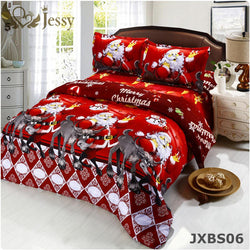 Bedroom - 3D 4PCS Bedding Sets - Merry Christmas (Duvet Cover Bed Sheet Pillow Case)