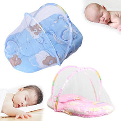 Bedroom - Infant Baby Mosquito Net Sewed With Sleeping Cushion Blue/Pink