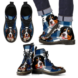 Bernese Mountain Dog Print Boots For Men-Express Shipping