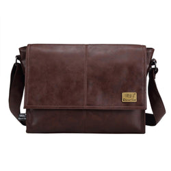 Cases - Designer Men's 14 Inch Laptop Leather Messenger Travel School Leisure Bag
