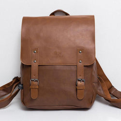 Cases - England Vintage PU Leather Backpacks For 14 Inch Laptop Bags