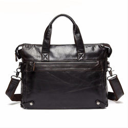 Cases - Genuine Leather Business Laptop Tote Briefcases Messenger Bag