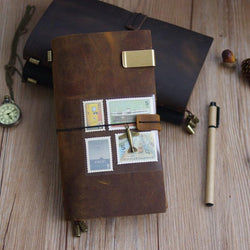 Cases - Traveler's Handmade Cowhide Leather Notebook Diary Journal
