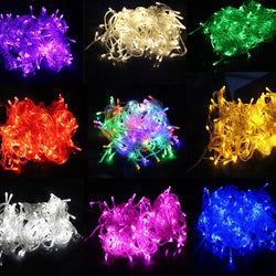 Christmas - 10M Waterproof 110V/220V 100 LED Holiday String Fairy Colorful LED String Lights