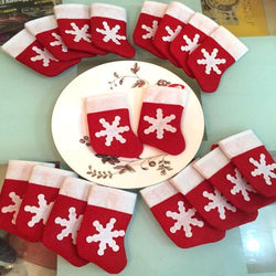 Christmas - 12 Pcs/set Mini Christmas Stockings Dinnerware Covers