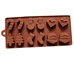 Christmas - Christmas Series Silicone Cake Mold 3D Soap Mold Bakeware DIY Chocolate Jelly Candy Pastry Decor