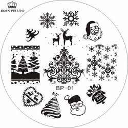 Christmas - Christmas Theme Nail Art Template Image Plate Set