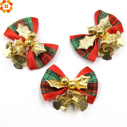 Chrstmas - 10PCS Christmas Tree Bow  Ornaments Bell