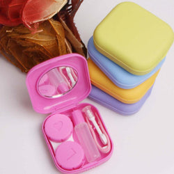 Comforts - Pocket Mini Contact Lens Case Travel Kit Easy Carry Mirror Container Holder