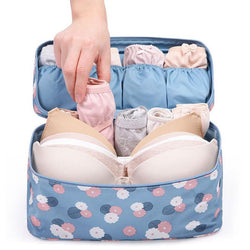 Comforts - Waterproof Travel Women Zippered Bra Underwear And Makeup Toiletry Storage Case