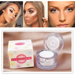 Cosmetics - 2 In 1 Eye Make Up Face Brighten Highlighter Shining White Color Single Eyeshadow Palette