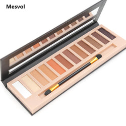 Cosmetics - Makeup Eyeshadow Palette 1pcs 12 Colors Matte&Shimmer Smoky Eye Shadow