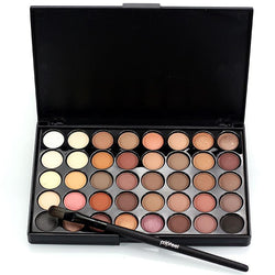 Cosmetics - Matte Eyes Shadow Makeup Sets With Brushes Waterproof 40 Color Smoky Eyeshadow