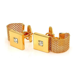 Cufflinks - Gold Plated Chain Cufflinks