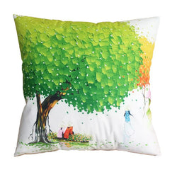Den - Creative Tree Decorative Cushion Cover Throw Pillowcase Plush Fabric