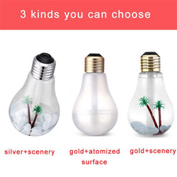 Family/Den - 400ml LED Lamp Air Ultrasonic Humidifier Oil Diffuser Atomizer Air Freshener