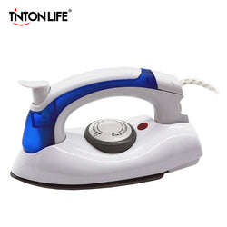 Family/Den - Mini Portable Electric Steam Iron For Clothes With 3 Gears Teflon Baseplate