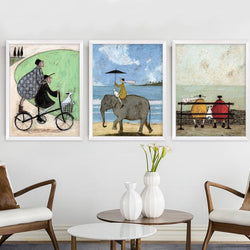 Family/Den - Modern Nordic Canvas Painting Oil Poster And Print Canvas Wall Art (No Frames)