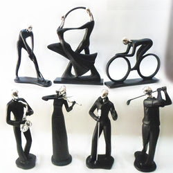 Family/Den - Resin Minimalist Modern Creative Abstract Human Statue Sculptures