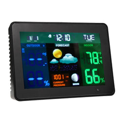 Family/Den - Wireless Color Weather Station In/Outdoor Forecast Temp / Humidity Alarm / Snooze Hygrometer