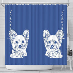 Yorkshire Terrier (Yorkie) Print Shower Curtain-Free Shipping