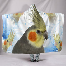 Cockatiel Parrot Print Hooded Blanket-Free Shipping