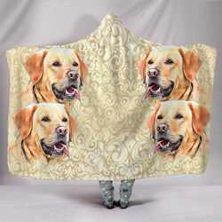 Cute Labrador Retriever Print Hooded Blanket-Free Shipping-Limited Edition