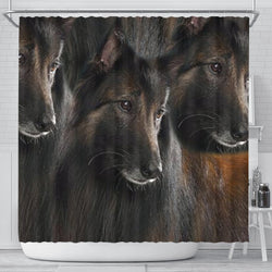 Belgian Tervuren Dog Print Shower Curtain-Free Shipping