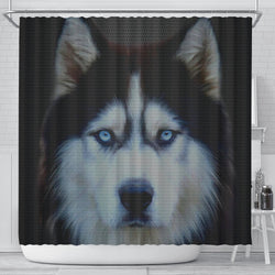 Amazing Siberian Husky Dog Print Shower Curtains-Free Shipping