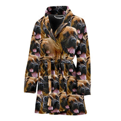 Amazing South African Boerboel Dog Patterns Print Women's Bath Robe-Free Shipping