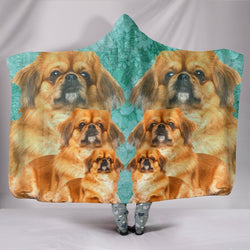 Cute Pekingese Dog Print Hooded Blanket-Free Shipping