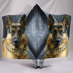 German Shepherd Print Hooded Blanket-Free Shipping