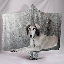 Saluki Dog Print Hooded Blanket-Free Shipping
