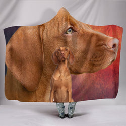 Vizsla Dog Print Hooded Blanket-Free Shipping