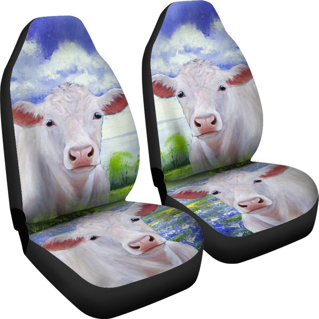 Charolais Cattle (Cow) Print Car Seat Covers- Free Shipping ...