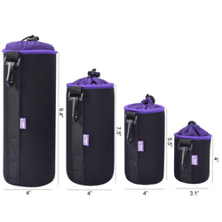 Hobbies - Camera Lens Protection Bag (4 Pieces)