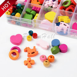 Hobbies - Mixed Shapes Wood Beads For Jewelry Making Accessories