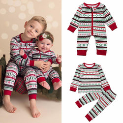Infant/Children - Christmas Family Clothes For Brother And Sister Jumpsuit Suit Matching Outfits