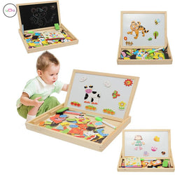 Infant/Children - Drawing Writing Board Magnetic Puzzle Double Easel Intelligence Development Toy