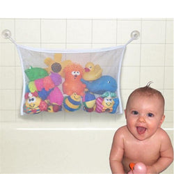 Infant/Children - Folding Eco-Friendly High Quality Baby Bathroom Toy Mesh Child Bath Net Suction Cup Baskets