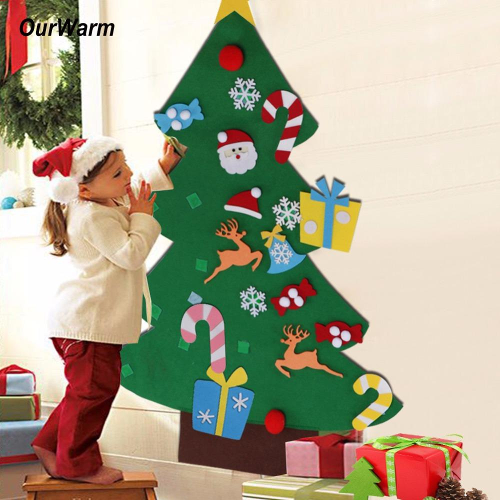kids diy felt christmas tree decorations christmas gifts wall hanging ornaments - Christmas Wall Hanging Decorations