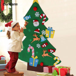 Infant/Children - Kids DIY Felt Christmas Tree Decorations Christmas Gifts Wall Hanging Ornaments