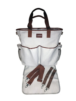 Infant/Children - KidZone By IPP: 2 In 1 Diaper Bag - Overnighter Tote W/Table Topper Changing Pad
